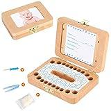 Luchild Zahnbox Holz Milchzähne Box [Deutsch Version] Zahndose Milchzahndose Zahndöschen für Kinder