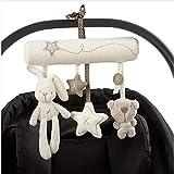 Baby Cradle Spiralspielzeug zum Aufhängen, niedliches Hasen-Musik-Spielzeug mit Glocken, zum Aufhängen, mit Glocke, Rassel und Glocke
