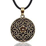 EUDORA Harmony Ball Vintage Anhänger Schmuck, Keltischer Schmuck Halskette, Bola Klangkugel Kette...