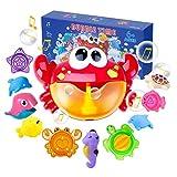 Joyjoz Badespielzeug Crab Bubble Badewannenspielzeug Kinder Stapelbecher Bubble Machine Seifenblasenmaschine Mit Musik
