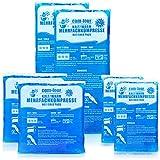 com-four® Sparpack Mehrfachkompresse in 3 verschiedenen Größen - Gelkompresse für kalt & warm - Anwendungen - Kühlpads - Mikrowellen geeignet (2X Klein, 2xMittel, 2X Groß)