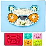 Happy Face Mat Kinder-Teller Baby Essmatte aus Silikon Essunterlage Tisch-Set Platzteller...