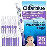 Clearblue Kinderwunsch Ovulationstest Fortschrittlich & Digital - Fruchtbarkeitstest für Eisprung,...