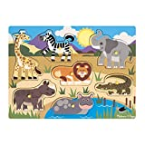 Melissa And Doug | Hölzernes Steck-Puzzle - Safari | Puzzle | 2+ years
