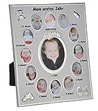 Timtina Bilderrahmen Mein erstes Jahr Baby Fotos Bilder Alurahmen 25x30cm in orangenem Fotokarton