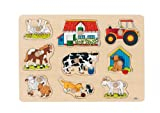 Goki 57908 Steckpuzzle Bauernhof I
