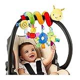 BSTiltion Babyschale Spielzeug, Baby Activity-Spirale Kette Kinderwagen Spielzeug Mädchen Junge Spirale Kinderwagenkette mit Klingelglocke zum Aufhängen an Kinderwagen, Babyschale, Kinderbett, Bett