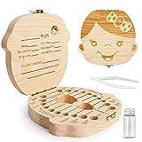ZIIDOO Zahnbox Holz Milchzähne Box,Zahndose für Milchzähne aus Holz, Milchzahndose Zahnfee...