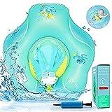 Baby Schwimmring, Antidumping Baby Schwimmreifen mit Dual Airbag, Aufblasbarer Baby Schwimmhilfe mit...