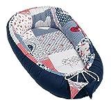 Solvera_Ltd Babynest 2seitig Kokon öko Babybett Nestchen für Neugeborene 100% Baumwolle...