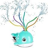 RenFox Spielzeug Wasser Sprinkler, Wasserspielzeug Garten Kinder, Whale Sprinkler Spielzeug, Mit sechsfarbigem Wasserauslass, Sommer Wasserspielzeug, Outdoor Spielzeug Wasser