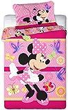 Disney 094 Minnie Maus Baby Wende-Bettwäsche Set 100 x 135cm
