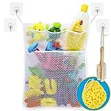 Wemk Bad Spielzeug Organizer Bad Spielzeug Netz Badespielzeug Lagerung Badewanne Spielzeugnetz mit 4...