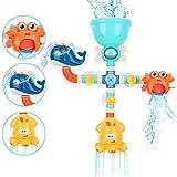 BBLIKE Badespielzeug Set, Spielzeug Badewanne Wasserspiel für Kinder Wasserspielzeug DIY Manuelle...