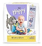 bella baby Happy Wickelunterlagen: Baby Wickelunterlagen für unterwegs 60 x 60 cm im 2er Pack (2 x 30 Stück) - wasserdicht und hygienisch