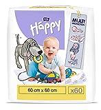 bella baby Happy Wickelunterlagen: Baby Wickelunterlagen für unterwegs 60 x 60 cm im 2er Pack (2 x...