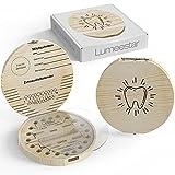 LumeeStar® Zahndose Milchzähne mit Namen zum Aufstellen | Zahnbox für Milchzähne Junge &...