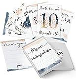 40+1 Baby Meilensteinkarten Golden Glamour Splash schöne Geschenkidee zur Geburt, werdende Mutter,...