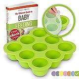 KIDDO FEEDO Silikon Babynahrung Aufbewahrung Behälter Zum Einfrieren Babybrei mit Silikondeckel -...