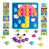 NextX Steckspielzeug Kinderspielzeug Mosaik Spielzeug Bunte Bausteine Sets Spiel Geschenke für Kinder
