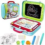 Kinder Zaubertafel Magnettafel 2-in-1 Doppelseitiges Gekritzel Zeichenkarton Tafel mit 3 Stempeln Reisespiel für Jungen Mädchen 3 4 5 Jahre