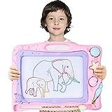 Automoness Zaubertafel Kinder ab 2 Jahre 42x32 cm,Große Magnetische Maltafel Zaubertafel,Zaubermaltafel Zeichenbrett mit 3 Magnetische Stempel und Magnetschreibstift, Kinder