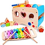 Rolimate Xylophon und Hammerspiel Spielzeug ab 1 Jahr, 3 in 1 Montessori Pädagogisches...