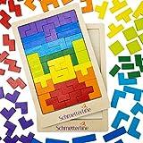 SCHMETTERLINE® Tetralino - Holz-Puzzle für Kinder ab 3 Jahre - Montessori-Spielzeug - Hochwertiges...