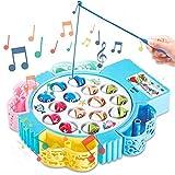 Angelspielzeug mit 4 Angelruten Musik Spiel Geschenk für Kinder 3 Jahren, Farbe Zufällig