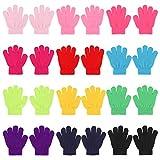 QKURT 12 Paare von Kinderhandschuhe, Magische Stretch Handschuhe Voller Finger Kinder Handschuhe für 3~6 Jahre alte Kinder Mädchen Jungen