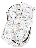 JUKKI® Babynest Comfort Baumwolle | Baby Nestches 5 teiliges Set, Kissen, Decke, Matratze | Babynestchen Neugeborene | Kuschelnest für Babybett | Babycare Bettchen - Friends Forever