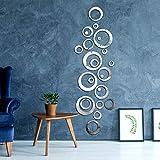 Abnehmbare Acryl Spiegel Einstellung Wandaufkleber Aufkleber für Zuhause Wohnzimmer Schlafzimmer Deko (Stil 8, 48 Stücke)