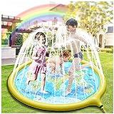 Hangrui Splash Pad, Sprinkler Wasser-Spielmatte,180cm Spielmatte Sommer Garten Wasserspielzeug Kinder Pool Pad für Outdoor Familie Aktivitäten/Party/Strand/Garten - Nicht aufblasbar