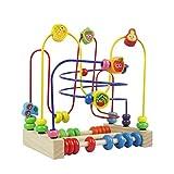 Holzspielzeug Motorikwürfel Baby Motorikspielzeug Holz Abakus Lernspielzeug Spielzeug Geschenk für Kinder Junge Mädchen ab 3 4 5 6 Jahren