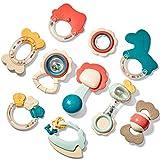 CubicFun Rassel Beißring Set Baby Spielzeug ab 0 3 6 9 Monate 10 PCS Shaker Greifen Rassel Baby...