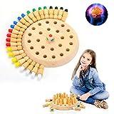 EKKONG Hölzernes Memory Match Stick Schach, Memory Match Stick Schach Spiel, Gedächtnis Schach, Eltern-Kind-Interaktion Spielzeug, Brettspiele, Lernspielzeug für Üben Farben, Motorik, Konzentration