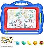 Geekper Magnetisches Zeichenbrett, 41 x 33 cm Groß Magnetische Maltafel, Doodle Pad mit 5 Stempeln und schönem Aufkleber für Kinder, zum Schreiben und Skizzieren