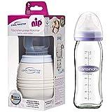NIP Flaschenkühler Cool Twister inkl. 1 x Lansinoh GLAS Flasche 240ml inkl. NaturalWave Sauger Gr. M
