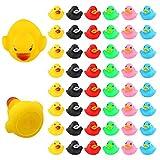 LUTER 48 Stück Badeente Gummi Ducky Badespielzeug für Kinder, Float und Squeak Mini Kleine Bunte Enten Badewanne Spielzeug für Dusche / Geburtstag / Partyzubehör