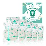 Lictin 60 Stück Muttermilchbeutel, Muttermilch Aufbewahrung Milch Aufbewahrung Bag mit Ausguss & Verdicktem Design, Vorsterilisiert, Doppelter Reißverschluss, BPA-Frei Muttermilchbeutel mit Box