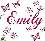Wandschnörkel ® Wandtattoo Wandaufkleber mit dem Namen ihres Kindes personalisiert Wunschnamen +...
