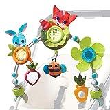 Tiny Love Spielbogen Sunny Stroll, Meadow Days, mit Rasselspielzeug, nutzbar ab der Geburt (0M+), Der verstellbare Clip passt auf die meisten Kinderwagen