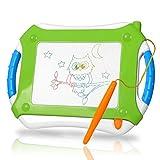 TTMOW Zaubertafel Kinder Maltafel für Kinder ab 3, Verdicktes Lerntafel Reißbrett Kindergeschenk, Hinzugefügter Bereich für Malerei (Grün)