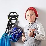 DEKOKRAFT® - Happy Car – Kindergarderobe mit Auto Motiv [Angebotspreis] Garderobe mit 2 Haken - Kinder Kleiderhaken – Kinderzimmer Wand Kinderhaken - Garderobenhaken - Garderobenleiste Wandhaken