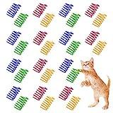 Ledoo 40Pcs Spirale Katzen Spielzeug Frühling Cat Spring Spielzeug Katzenspielzeug Set Kunststoff...