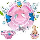 GUBOOM Aufblasbarer Baby Schwimmringe, Baby Schwimmring mit Schwimmsitz Schwimmtrainer, Aufblasbarer Schwimmreifen Kleinkind für Kinder Baby Float Schwimmring ab 6 Monate bis 36 Monate (Rosa)
