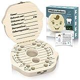 Original Zrilubkrelz® Zahnbox Zahndose für Kinder aus Holz | inkl. Brief | Deutsche Sprache | 2...