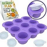 BAMBARAMBA® Babybrei Einfrieren - Extra große Aufbewahrung für einzelne Portionen Selbst-gekochter Babynahrung - Beikost-Behälter zum Einfrieren und Portionieren