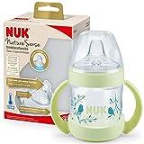 NUK Nature Sense Trinklernflasche   6–18Monate   150 ml   Temperature Control Anzeige   Mit Ergonomische Griffe und Anti-Kolik-Ventil   auslaufsichere Trinkschnabel aus Silikon   BPA-frei   Grün