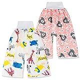 2 Stück Baby Trainingshose Sleepy Windelhose Polster Cotton Potty Underwear Windelunterwäsche, L(4-8T), 4-8 Jahre